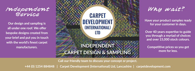 We carry out all carpet design and samples in our purpose built factory